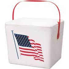 lifoam american flag styrofoam cooler 17449 do it best