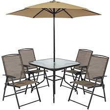 folding patio dining table amazon com best choice products 6pc outdoor folding patio dining