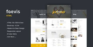 foevis creative agency html5 u0026 css3 template by sposobstudio