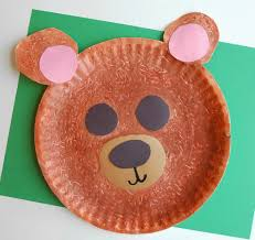 fuzzy brown bear craft what can we do with paper and glue