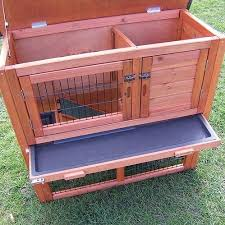 Double Decker Rabbit Hutch Double Decker With Run Rabbit Hutch Hutches Guinea Pig House Home