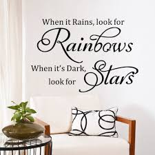Wall Decals For Living Room Online Get Cheap Rain Quotes Aliexpress Com Alibaba Group