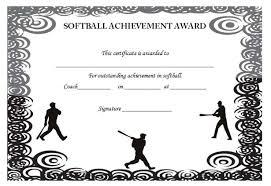 39 free softball award certificates templates ideas and titles