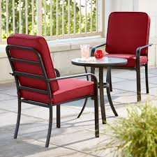 essential garden bisbee 3 piece bistro set red limited