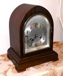 Mantel Clocks Antique Junghans Mahogany Mantel Clock Wurttemberg Germany By