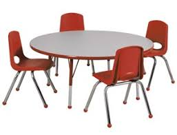 round table with chairs all round activity table chair package by ecr4kids options