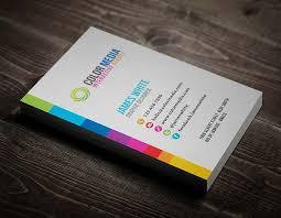 color business card desgin print business cards