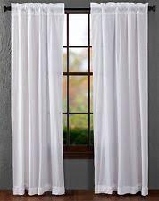 White Ruffle Curtain Panels Ruffled Unlined Panels Ebay