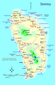 Map Caribbean by Caribbean Dominica Map