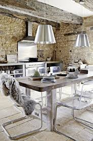 kitchen rustic kitchen blue exposed beam one wall kitchen island
