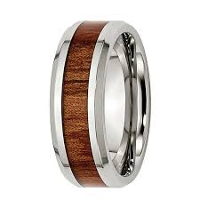 wood inlay wedding band mens 8mm stainless steel wood inlay wedding band jcpenney