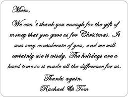 Wedding Gift Money Poem Thank You Note For Gift How To Write Thank You Note How To Write