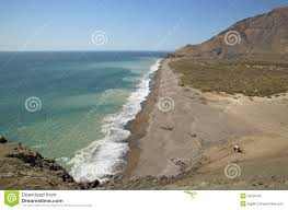 Atacama Desert Map Atacama Desert And Pacific Ocean Coastline Chile Stock Photo