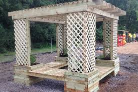How To Build A Planter by How To Build A Planter Bench Shade Structure Kaboom