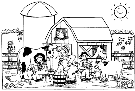 Coloring Pages Farm Animals Bebo Pandco Farm Color Page