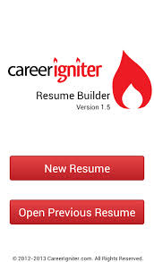 Resume Builder App For Android Career Igniter Resume Builder Android Apps On Google Play
