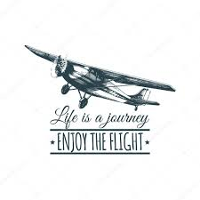 travel logo with vintage airplane u2014 stock vector vladayoung