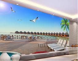 removable wall murals for popular tropical med art home design