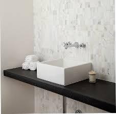 Modern Tiled Bathroom Quarry Calcata Mosaic Modern Bathroom Tile Seattle