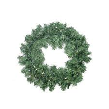 24 battery operated pine artificial wreath multi