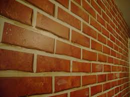 glomorous faux painted brick wall together with painting a brick