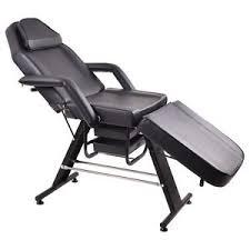 adjustable salon spa black massage bed tattoo chair table