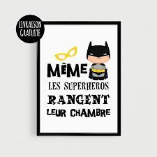 affiche chambre garcon poster a4 superhéros pour enfant même les superhéros rangent