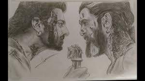 baahubali vs bhallaldeva speed drawing celebrity sketches