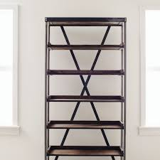 Industrial Bookcase With Ladder by Vintage Industrial Tray Shelf White Shanty