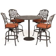 High Patio Table Florence Cast Aluminum Outdoor Bar Height Patio Set