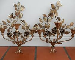 Candelabra Wall Sconces Floral Wall Sconce Etsy