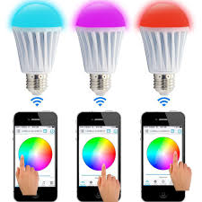 led dimmable bluetooth e27 7 5w rgbw bulb wireless remote