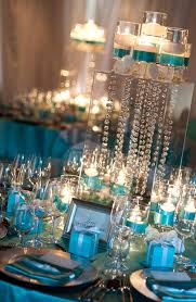 tiffany blue and gold vintage wedding reception decor chic