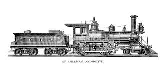 vintage american locomotive stock illustration thinkstock