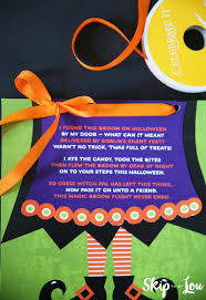 Poem On Halloween The Magic Broom Kids Halloween Activity Skip To My Lou