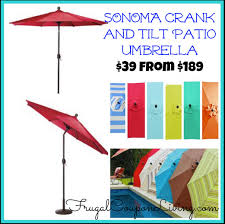 Patio Umbrellas That Tilt Sonoma Outdoors 9 Ft Crank And Tilt Patio Umbrella 39 99 From 189