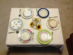 Shabby Chic Plates by They Call Me Krafty Karen Shabby Chic Plate Setting