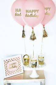 happy birthday balloons black white pink aqua pink set of