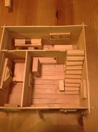 How To Build A Floor For A House Decided To Build A Popsicle Stick House It Got A Little Out Of