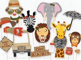 safari baby shower photo booth props baby shower safari