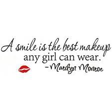 chambre marilyn marilyn quotes stickers muraux un sourire est le meilleur