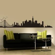 home decor san francisco san francisco city skyline silhouette wall art golden gate bridge