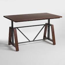 Adjustable Height Bar Table Wood Braylen Adjustable Height Work Table World Market 249