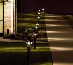 solar led walkway lights incredible solar led path lights solar lighting plow hearth solar