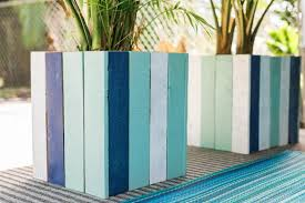 diy planter box upcycle old pallets into colorful planter boxes hgtv