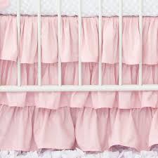 White Ruffle Crib Bedding Light Pink Ruffle Crib Skirt Caden