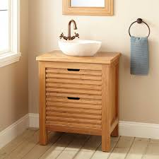 the bathroom store torrance 24 narrow depth torrance bamboo slatted front vessel sink console