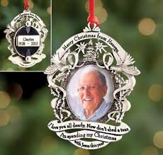 merry christmas from heaven personalized merry christmas from heaven ornament harriet