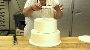wedding cake layer how to assemble a stacked cake using cake support solutions