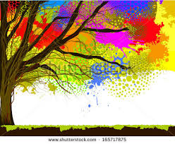 color tree stain watercolor raster stock illustration 165717875